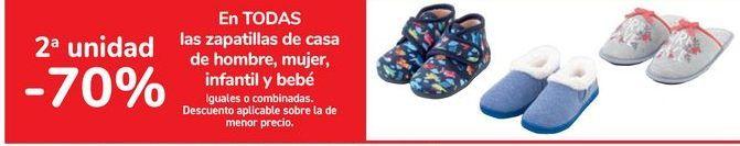 Oferta de En TODAS las zapatillas de casa de hombre, mujer, infantil y bebé por
