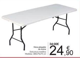 Oferta de Mesa plegable de resina  por 24,9€