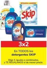 Oferta de En TODOS los detergentes SKIP por 3€