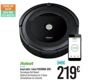 Oferta de Aspirador robot ROOMBA 696 iRobot por 219€