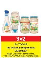 Oferta de En TODAS las salsas y mayonesas LIGERESA por