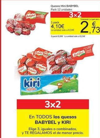 Oferta de Quesos Mini BABYBEL por 4,1€