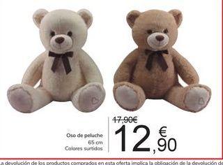Oferta de Oso de peluche por 12,9€