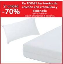 Oferta de En TODAS las fundas de colchón con cremallera y almohada por