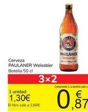 Oferta de Cerveza PAULANER Weissbier por 1,3€