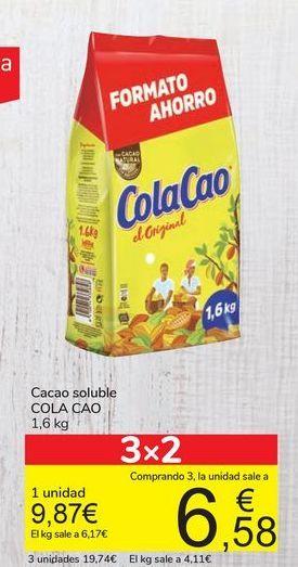Oferta de Cacao soluble COLA CAO por 9,87€