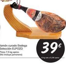 Oferta de Jamón curado Bodega Selección EL POZO por 39€
