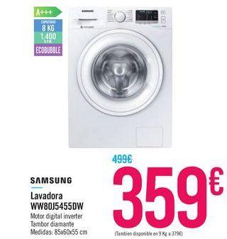 Oferta de Lavadora WW80J5455DW SAMSUNG por 359€