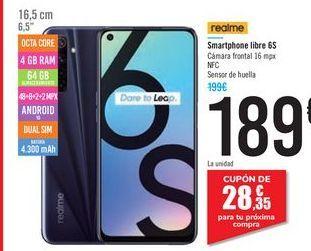 Oferta de Smartphone libre 6S realme por 189€