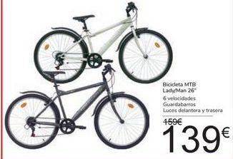 "Oferta de Bicicleta MTB Lady/Man 26"" por 139€"