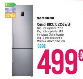 Oferta de Combi RB37J5325SS/EF SAMSUNG por 499€