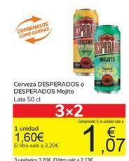 Oferta de Cerveza DESPERADOS o DESPERADOS Mojito por 1,6€