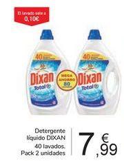 Oferta de Detergente líquido DIXAN por 7,99€
