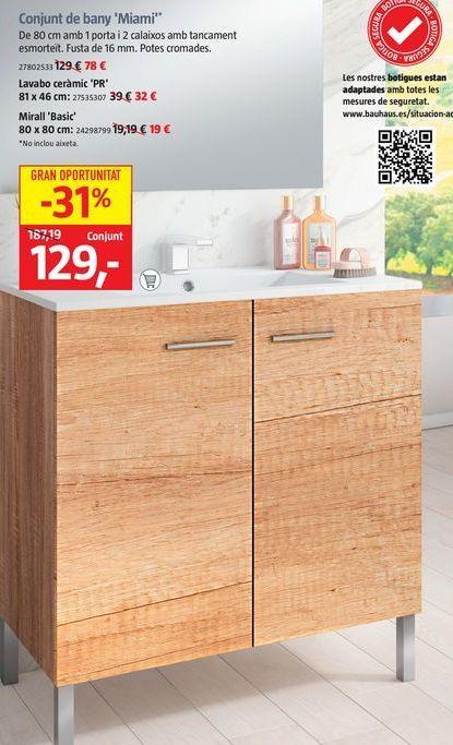 Oferta de Muebles de baño por 129€