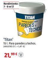 Oferta de Pintura plástica Titan por
