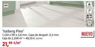 Oferta de Suelo vinílico al corte por 21,99€