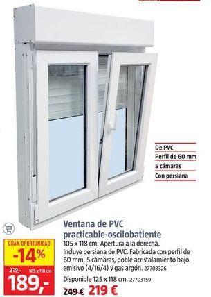 Oferta de Ventana de PVC por 189€