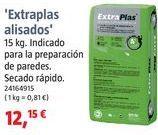 Oferta de Plaste para alisar por 12,15€