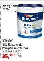 Oferta de Pintura plástica Bruguer por 35,95€