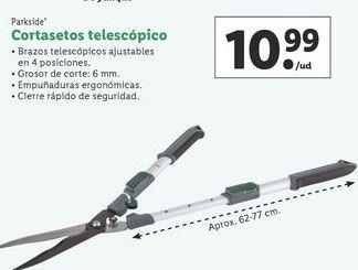 Oferta de Cortasetos telescópico Parkside por 10,99€