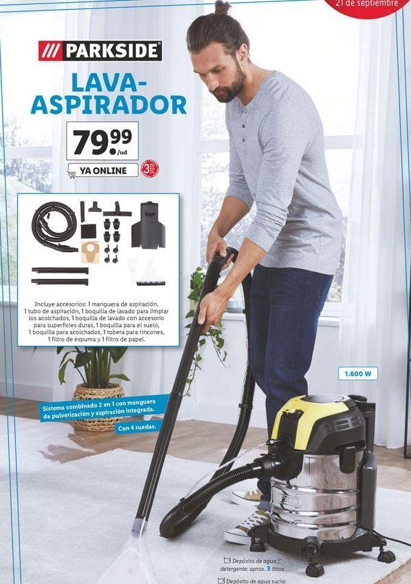 Oferta de Ñava-aspirador Parkside por 79,99€