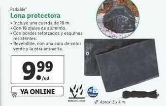 Oferta de Lona protectora  Parkside por 9,99€