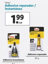 Oferta de Adhesivo reparador instantáneo   Pattex por 1,99€