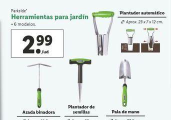 Oferta de Herramientas de jardín Parkside por 2,99€