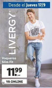 Oferta de Vaqueros slim fit  Livergy por 11,99€