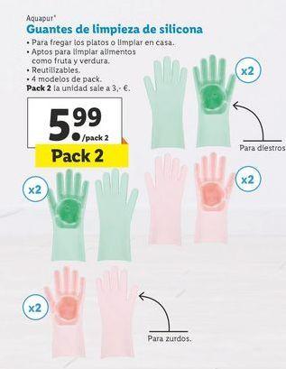 Oferta de Guantes de limpieza de silicona  aquapur por 5,99€