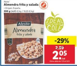 Oferta de Almendra frita y salada  Alesto por 2,05€