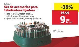 Oferta de Set de accesorios para taladradora-lijadora  Parkside por 9€