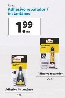 Oferta de Adhesivo reparador/instantáneo  por 1,99€
