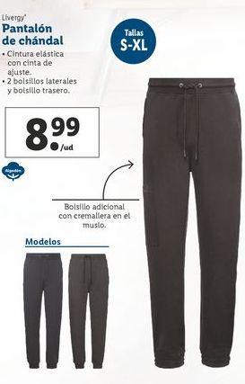 Oferta de Pantalón de chándal  Livergy por 8,99€
