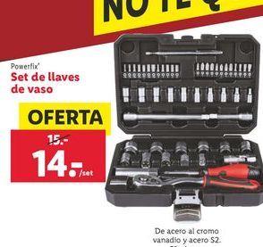Oferta de Set de llaves de vaso Powerfix por 14€