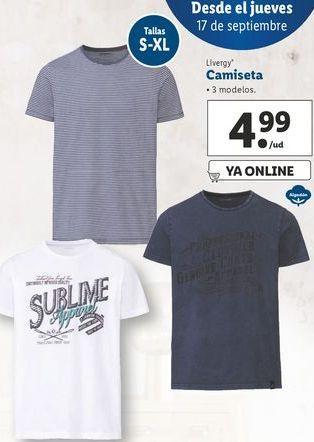 Oferta de Camiseta Livergy por 4,99€