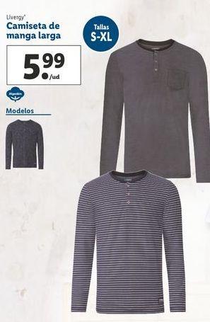 Oferta de Camiseta manga larga Livergy por 5,99€