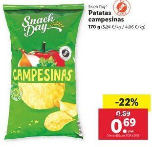 Oferta de Patatas campesinas Snack Day por 0,69€