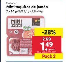 Oferta de Lonchas de jamón por 1,49€
