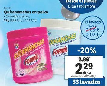 Oferta de Quitamanchas en polvo  Formil por 2,29€