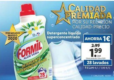 Oferta de Detergente líquido Formil por 1,99€