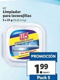 Oferta de Limpiador para lavavajjillas W5 por 1,99€