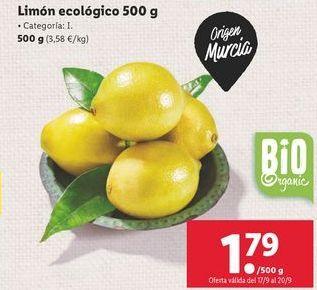 Oferta de Limón ecológico  por 1,79€