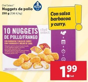 Oferta de Nuggets de pollo chef select por 1,99€