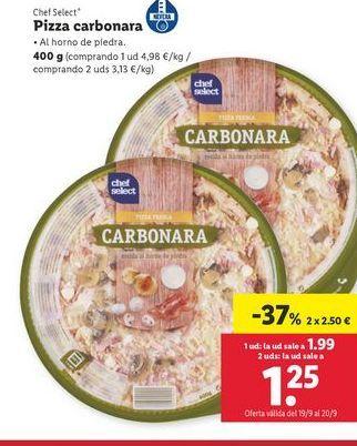 Oferta de Pizza carbonara Chef select  por 2,5€