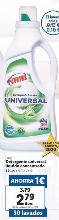 Oferta de Detergente universal liquido concentrado  Formil por 2,79€
