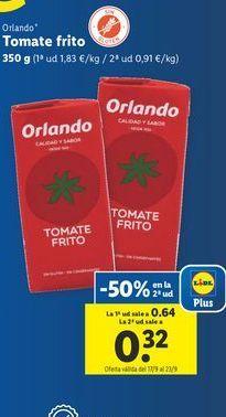 Oferta de Tomate frito Orlando por 0,64€