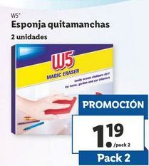 Oferta de Esponja quitamanchas  W5 por 1,19€