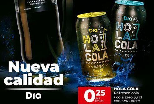 Oferta de Refresco de cola HOLA COLA por 0,25€