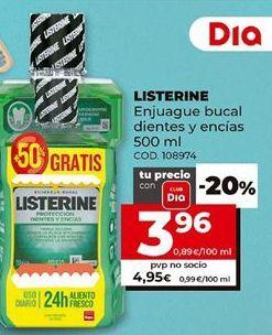 Oferta de Enjuague bucal Listerine por 3,96€